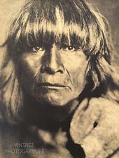 1900/72 Vintage Matted EDWARD CURTIS Native American Indian Hopi Man Photo16X12