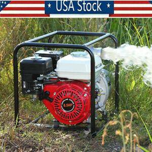 "6.5 HP 2"" Gas Power 212CC Semi-Trash Water Pump High Pressure Garden Irrigation"