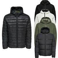 Only & Sons Mens Puffer Padded Jacket Lightweight Warm Casual Hooded Coats