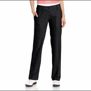 Adidas ClimaLite Black Trouser Style Golf Activewear Lightweight Pants, Women's