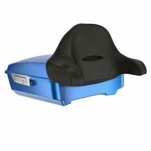 Electric Blue Chopped Tour Pack Wrap-Around Backrest For 97-20 Harley Touring
