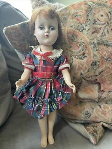 "Vintage Hard Plastic Doll Arranbee R&B Nannette? Doll 14"" Reddish- Brown Hair"