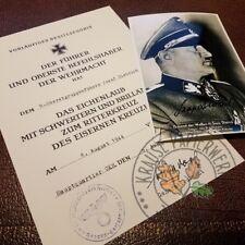 Knight's Cross of Iron Cross /w Oak-leaves, swords & diamonds for Josef Dietrich