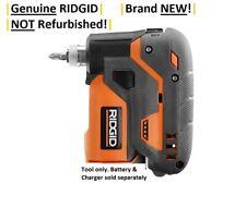 "RIDGID 1/4"" 12V Volt Palm Impact Screwdriver R8224 w/ Push-to-Drive Feature NEW!"