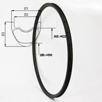 29er Carbon Fiber Mountain Bike Rim 27mm Width 23mm Depth 28/32Hole Tubeless UD