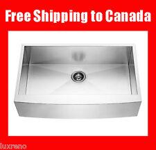 """Free Accessories 30"""" Stainless Steel Farm Zero Radius Kitchen Apron Sink KAS3021"""