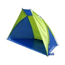 UV PROTECTION BEACH SHELTER holiday windbreaker tent sewn in groundsheet & pegs