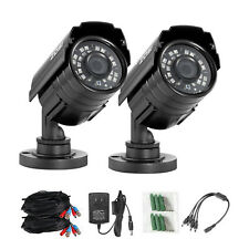 ZOSI CCTV  2Pcs 1080P TVI Bullet CCTV Camera Outdoor Security IR Night Vision