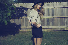 Taylor Swift Red Album Cover Silk Canvas Fabric Poster 24x36 inches