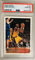 1996 Topps Basketball Kobe Bryant ROOKIE RC #138 PSA 10 GEM MINT