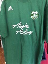 Adidas PORTLAND TIMBERS Soccer Jersey Sz L   Alaska Airlines Green