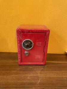 Idena Spardose Tresor Rot Spartresor Mit Schlüssel 12x10x16cm