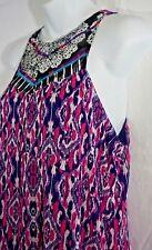 Express Womens Maxi Dress Sleeveless Sheer Overlay Medium NEW
