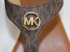 NIB $120 MICHAEL KORS Size 8.5 Women's Brown Mini MK JUDY Thong Ankle Sandal