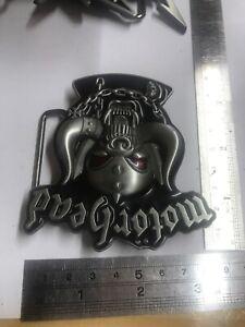 MOTORHEAD War Pig Logo New BELT BUCKLE Silver Colour Metal Red Eyes Music Band