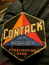 Waddington's Contack - a game like 3 way Dominoes. Vintage.  Complete.