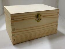 Pine wooden storage box RN123 case chest trunk wooden tea jewellery