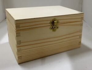 Natural finished pine wooden box ready to decoupage 20x14.5x11.5CM RN123