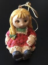 "Vintage Itty Bitty Christmas Toy Doll United Design Corp 1.5"" X 1.5"""