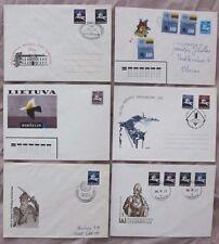 Lithuania Lietuva 1991 Birzelis etc. Horse Equestrian Theme Stationery Cover x 6
