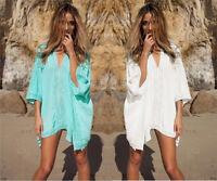 Women Lace Crochet Bikini Cover Up Swimwear Summer Beach Dress Bathing Suit