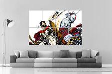 Leonidas VS Sparta kratos 300 - GOD OF WAR  Wall Art Poster Grand format A0