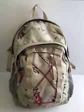 North Face Collage Camouflage Backpack Optimus Pink Leaves Book Bag Large School