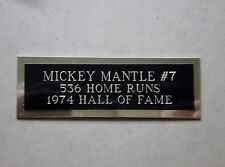 "Mickey Mantle Nameplate For A Baseball Ball Cube Square Or Card Plaque 1"" X 3"""