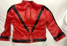 Michael Jackson ThrIller Jacket Size Men M/L Jerry Beck Charades Halloween Pvc