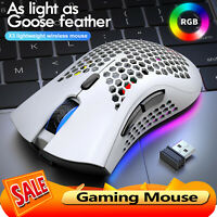 2.4G Wireless RGB Rechargeable 2400DPI Adjustable Honeycomb Mice Gaming Mouse