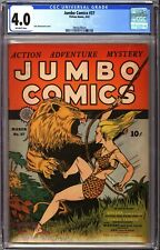 Jumbo Comics 37 CGC 4.0 OW Fiction House 1942