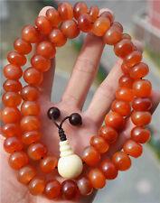 agate bracelet red necklce prayer beads mala pema raka antique tibetan nanhong
