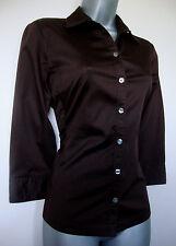 BANANA REPUBLIC 6 8 XS S/P Stunning Stretch Fit Brown Designer Blouse Shirt Top
