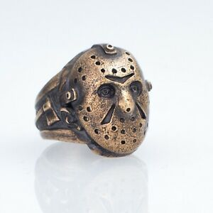 Friday the 13th Ring, brass, handmade ... Jason Voorhees Mask