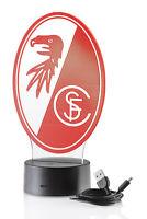 SC Freiburg LED Licht Wappen, Freiburg Lampe, 1. Bundesliga, USB Kabel inkl.