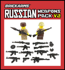 BrickArms WWII RUSSIAN Weapon Pack V2 for Lego Minifigures Limited Edition NEW