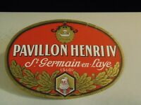 Pavillon Henri IV St. Germain en Laye Vintage Luggage Label/Sticker  4/6