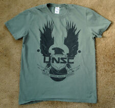 UNSC United Nations Space Command green t shirt size M HALO