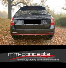 Cup Diffusor Ansatz für Skoda Octavia MK3 RS Heck Stoßstange Rear Splitter ABS