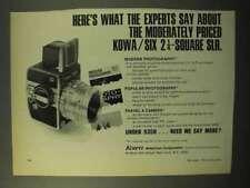 1970 Kowa Six 2 1/4 SLR Camera Ad - Experts Say