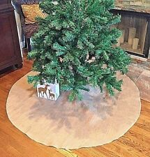 Christmas Tree Skirt Burlap 60 inch Handmade