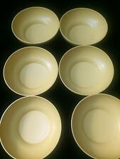 Vintage Tupperware Set of 6 Salad Cereal Bowls 890 Harvest Gold Yellow Classics