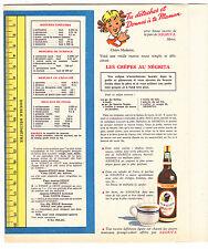 Protège cahier Rhum NEGRITA carte ILE DE LA REUNION recette de crepes au rhum