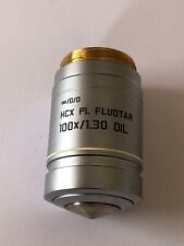 Leica Hcx Pl Fluotar 100 x /1.30 Oil Objective,metallurgical long working