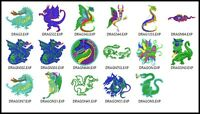 17 Dragon File Embroidery Digitized Stitches Design Machine