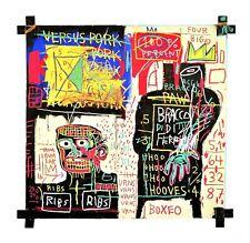 Jean Michel Basquiat The Italian Version of Popeye Poster Art Imprimé 70x70cm