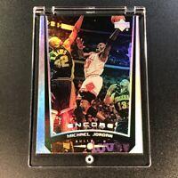 MICHAEL JORDAN 1998 UPPER DECK ENCORE #96 HOLOFOIL REFRACTOR LIKE CARD BULLS MJ