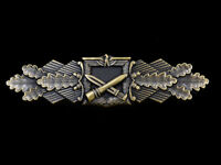 WWII WW2 German 1957 Close Combat Clasp in Bronze Clutch back Badge Order Medal