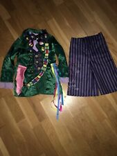 Disney The Mad Hatter Alice In Wonderland Costume Fancy Dress Outfit Age 4