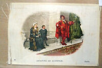 B.D.V. CIGARETTES POSTCARD SIZE SILK- AWAITING AN AUDIENCE, GEETS, No. 18